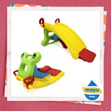 Gambar Labeille Froggy 2 in 1 slide to rocker