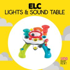 Gambar Elc Light & sound activity table (white)