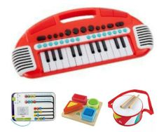 Gambar Bundle Of toys 18 :  fisher price think & learn count with me math center, elc wooden drum, elc carry along keyboard & elc shape recognition set