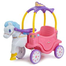Gambar Little tikes Princess horse and carriage