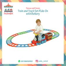 Gambar Thomas and friend Train and track set ride on with battery
