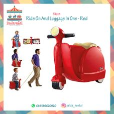 Gambar Skoot Ride on luggage in one (red)