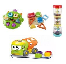 Gambar Bundle Of toys 21 : elc baby rainmaker, elc shape recognition set, fisher price infant shape sorter truck & fisher price silly sortin monster puzzle