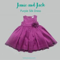 Gambar Janie and jack Purple silk special occasion dress