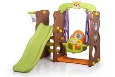 Gambar Tobebe Bear slide and swing